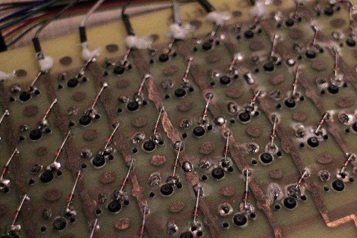 Look at the soldering around switches