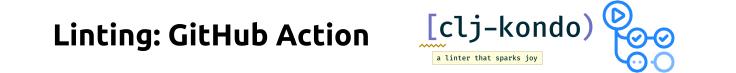 Linting: Github Actions