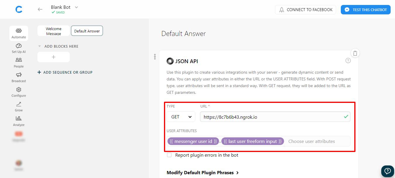 Chatfuel Dialogflow Integrator in Python for Facebook