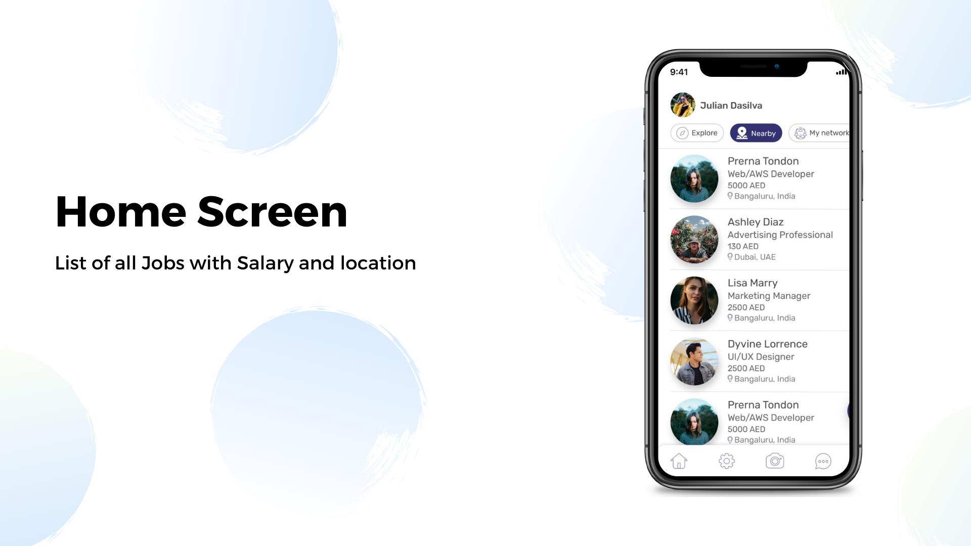 Job search professional networking social media UI KIT app in Flutter - 1