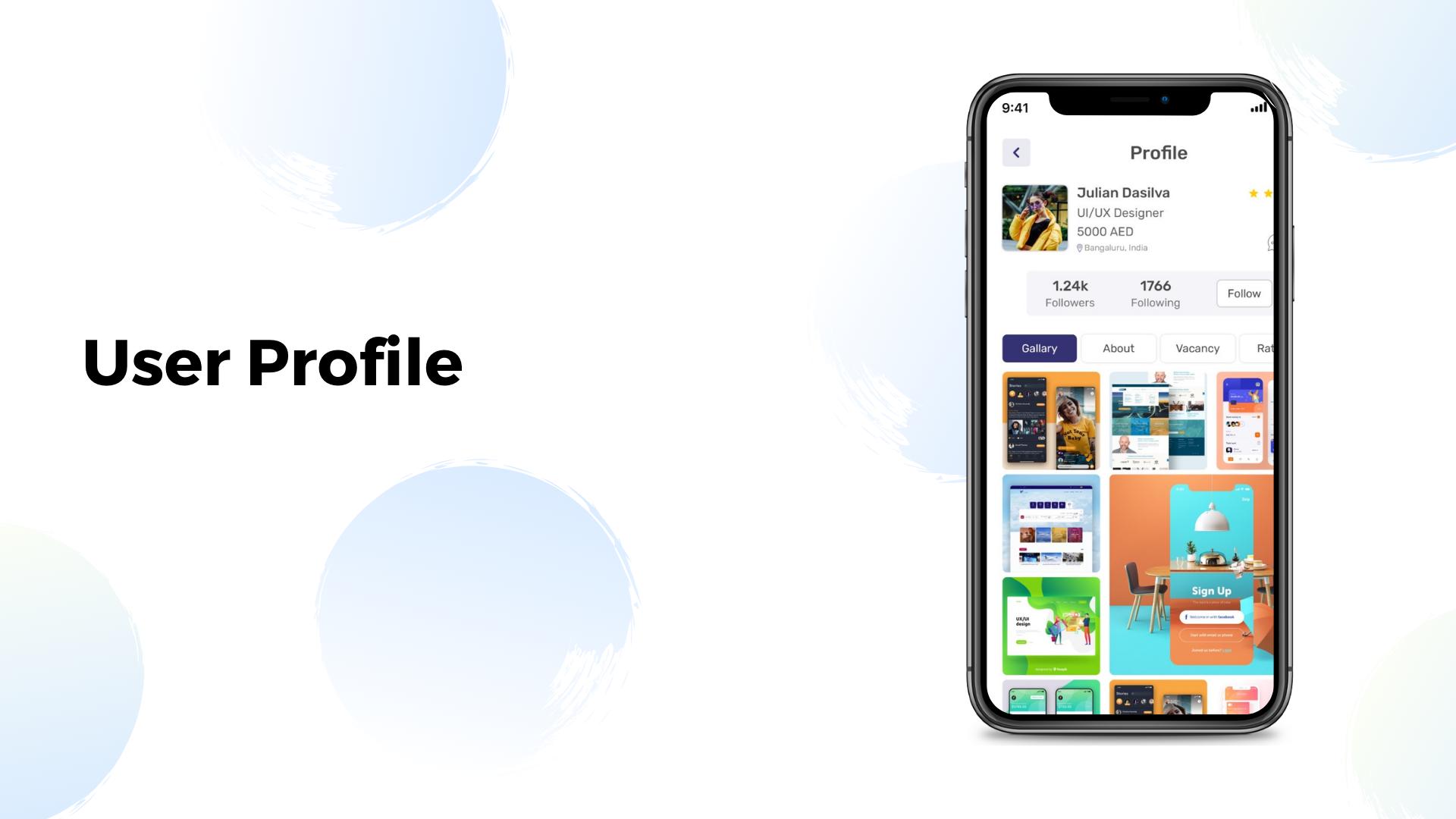 Job search professional networking social media UI KIT app in Flutter - 6