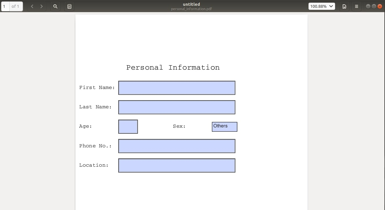 Creating a simple form to collect personal information.