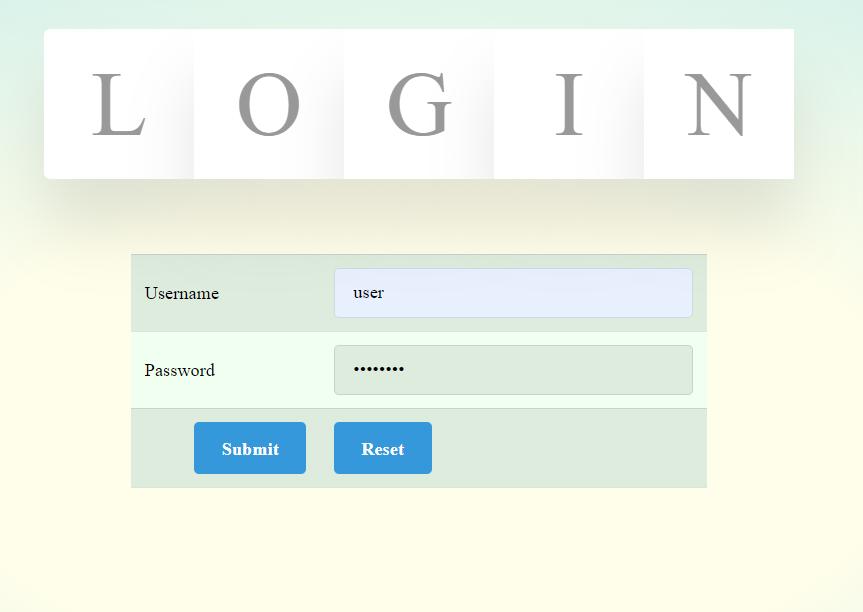 login-webpage