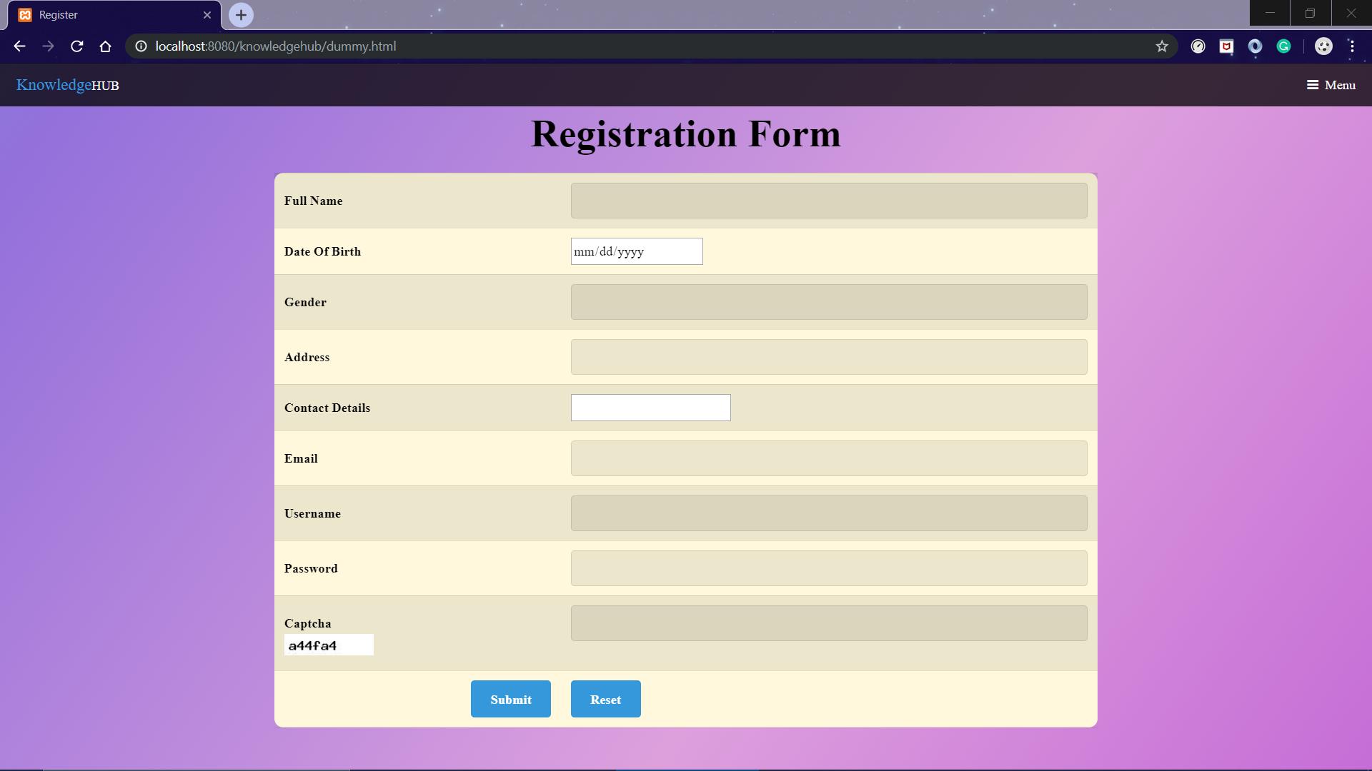 registration-webpage