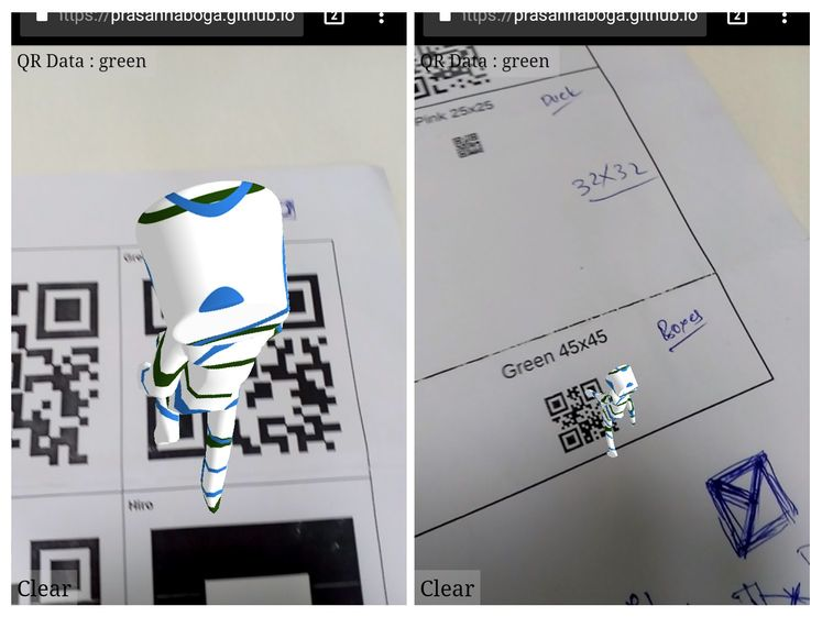 Using QR code as marker · Issue #341 · jeromeetienne/AR js