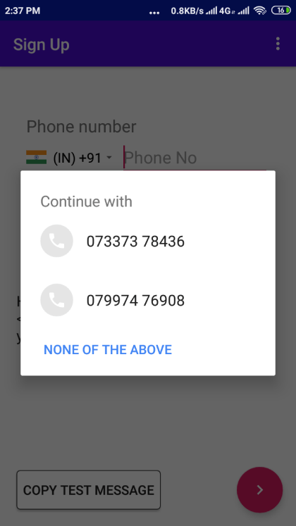 Obtain the user's phone number