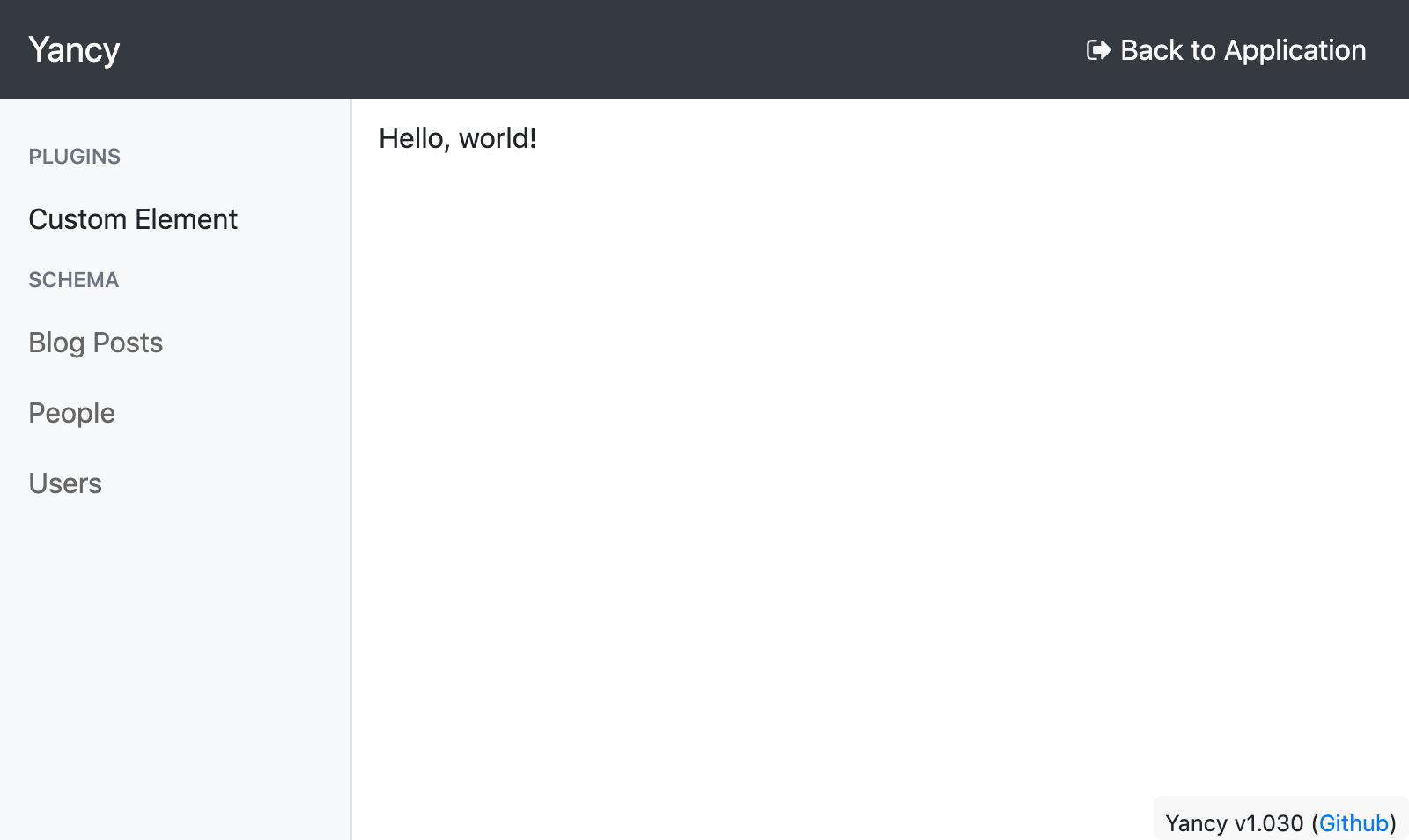 screenshot of yancy editor showing custom element