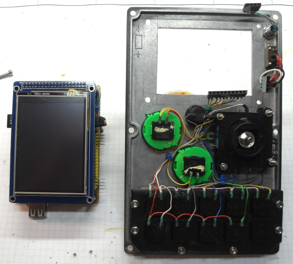Motherboard and front panel