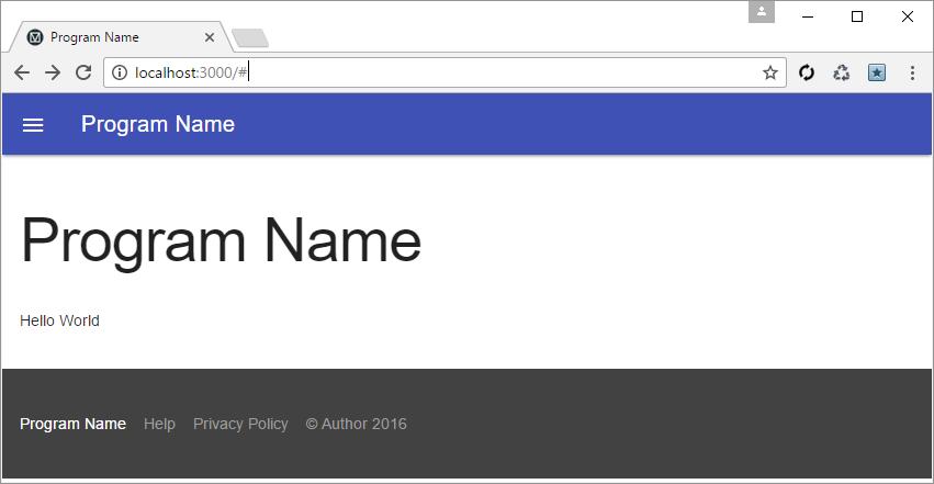 GitHub - primaryobjects/Node.js-Material-Starter-Template: Node.js ...