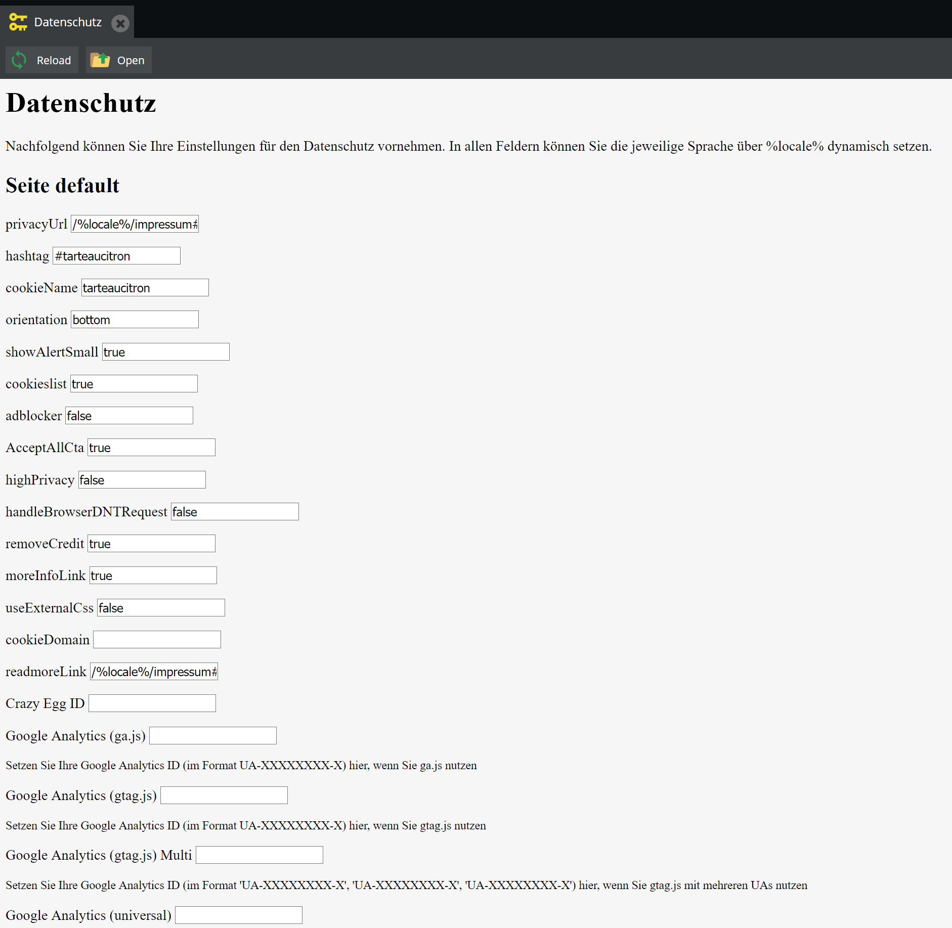Backend Interface