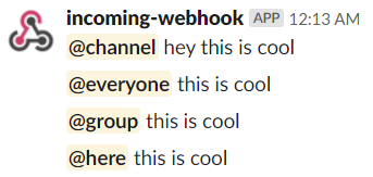 Notification To Channel Example
