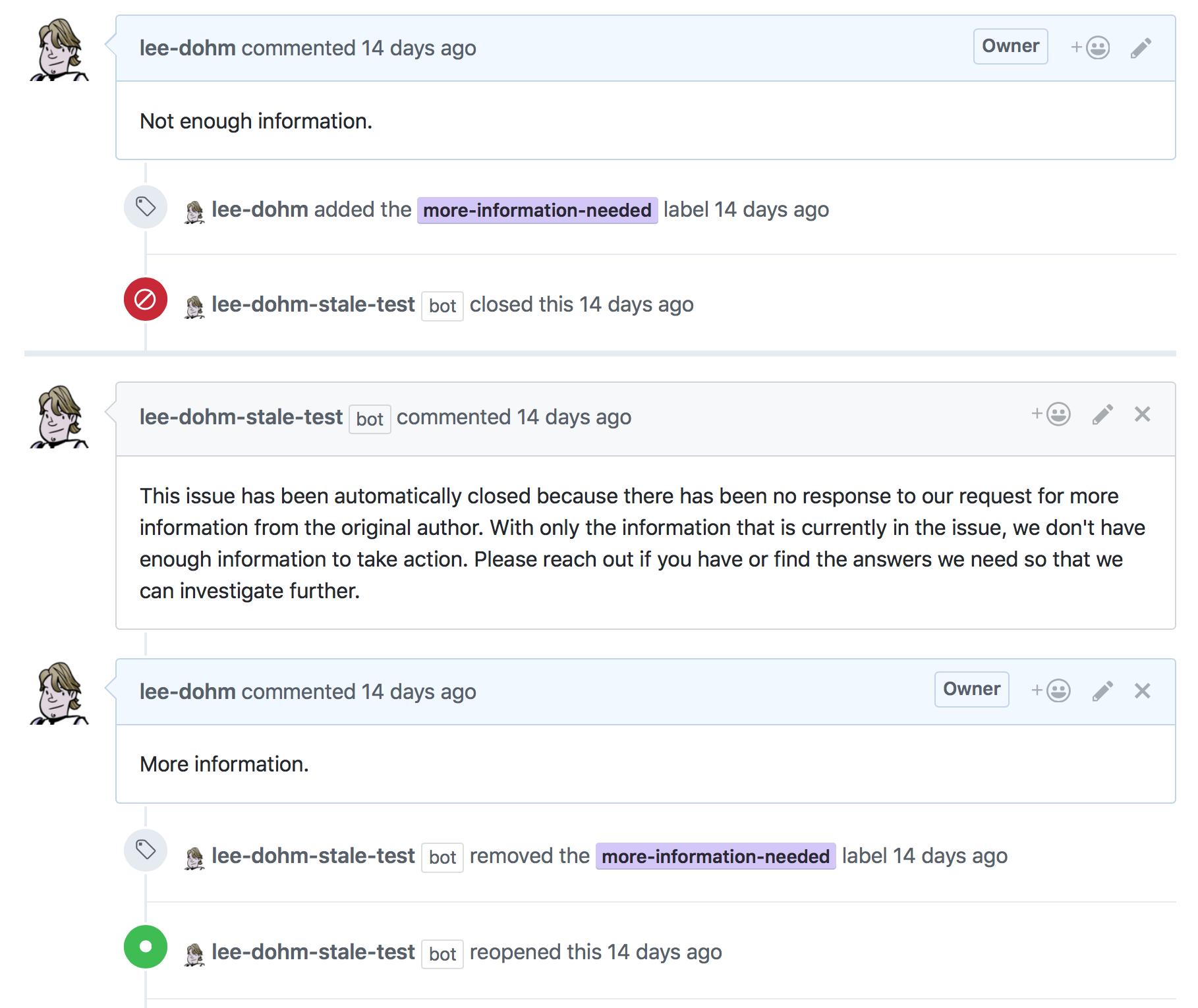Screenshot of No Response app