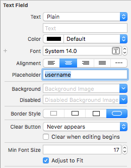 textfield placeholder