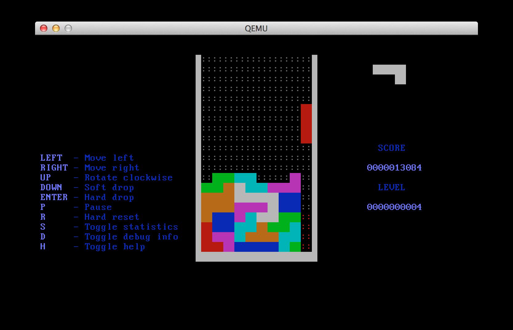 QEMU screenshot