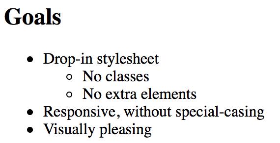 Default styles
