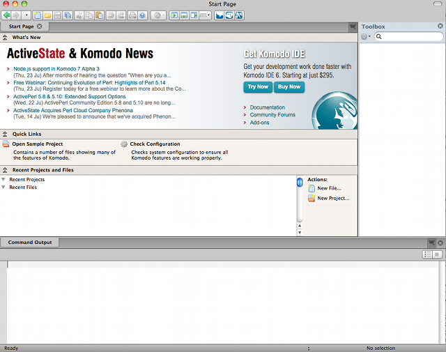 screenshot of Komodo Exit on OS X