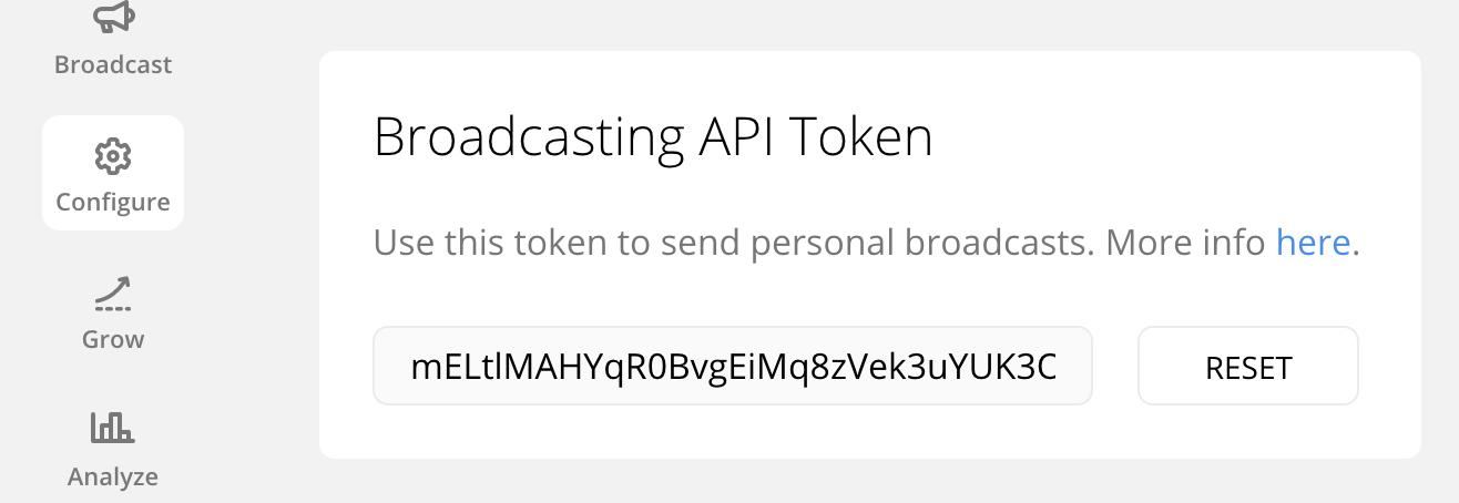 Chatfuel Broadcasting Token