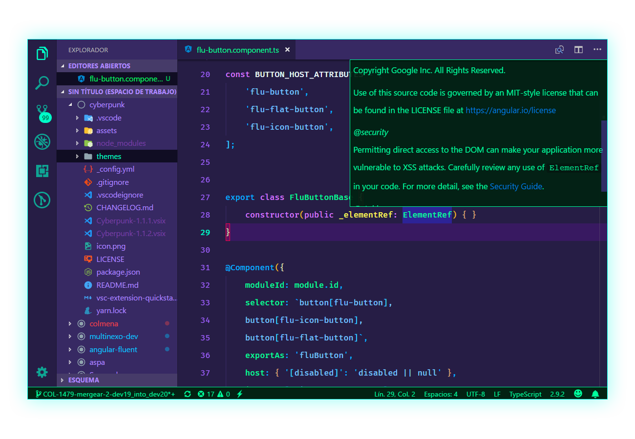 Cyberpunk for VS Code