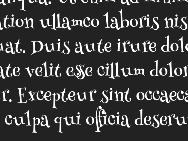 Font with ligatures