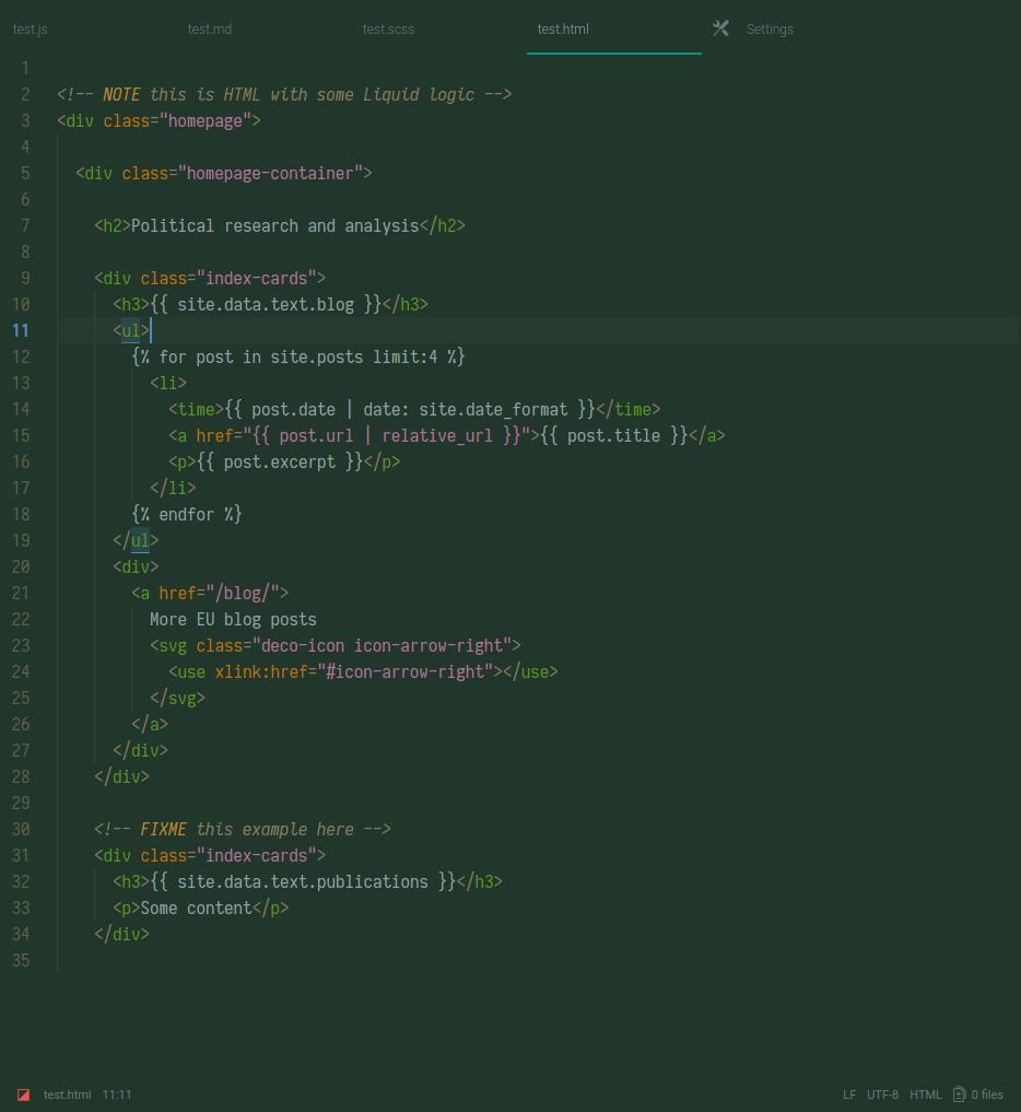 camo dark screenshot html