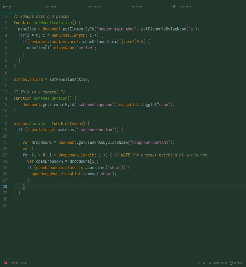 camo dark screenshot js