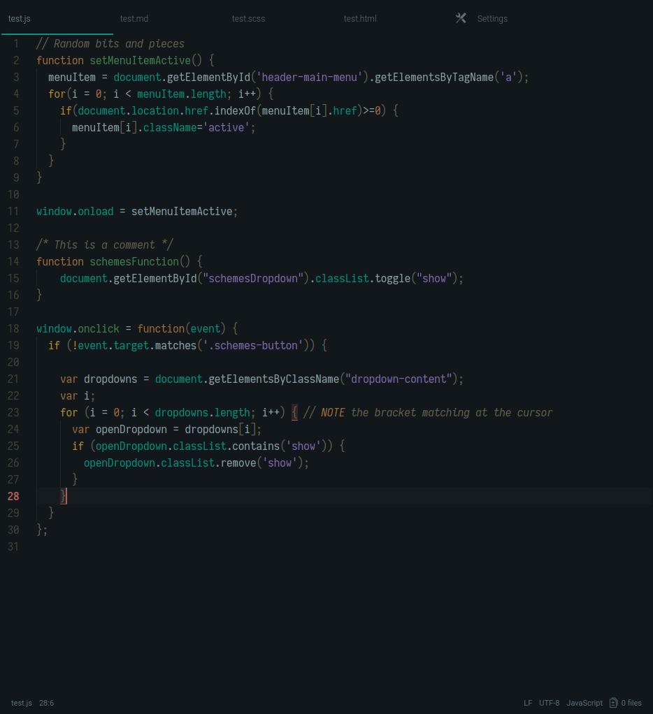 hinterland dark screenshot js