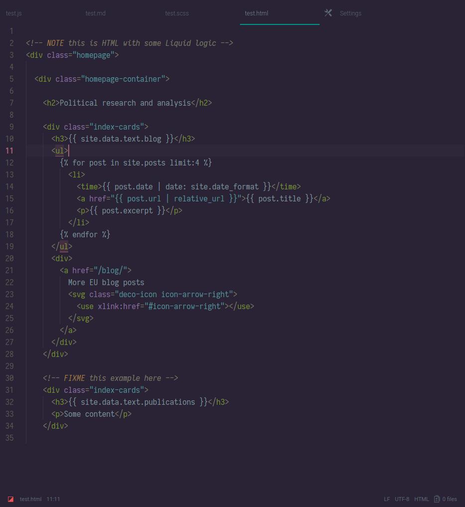 termina dark screenshot html