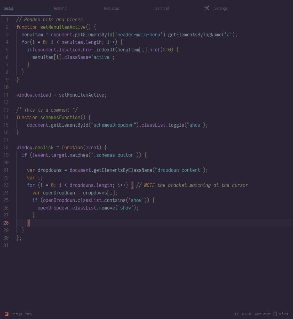 termina dark screenshot js