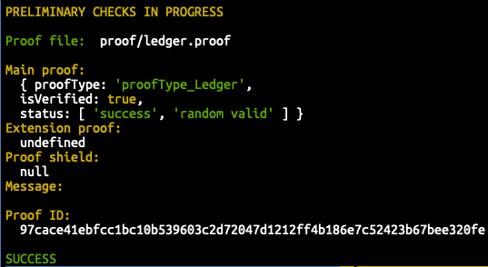 The passing Ledger Proof!