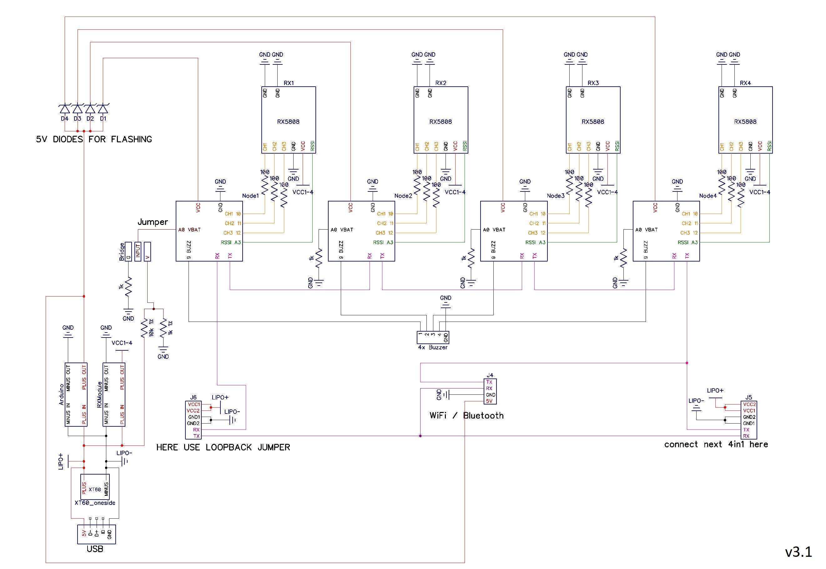 Chorus RF Laptimer - 4in1 PCB