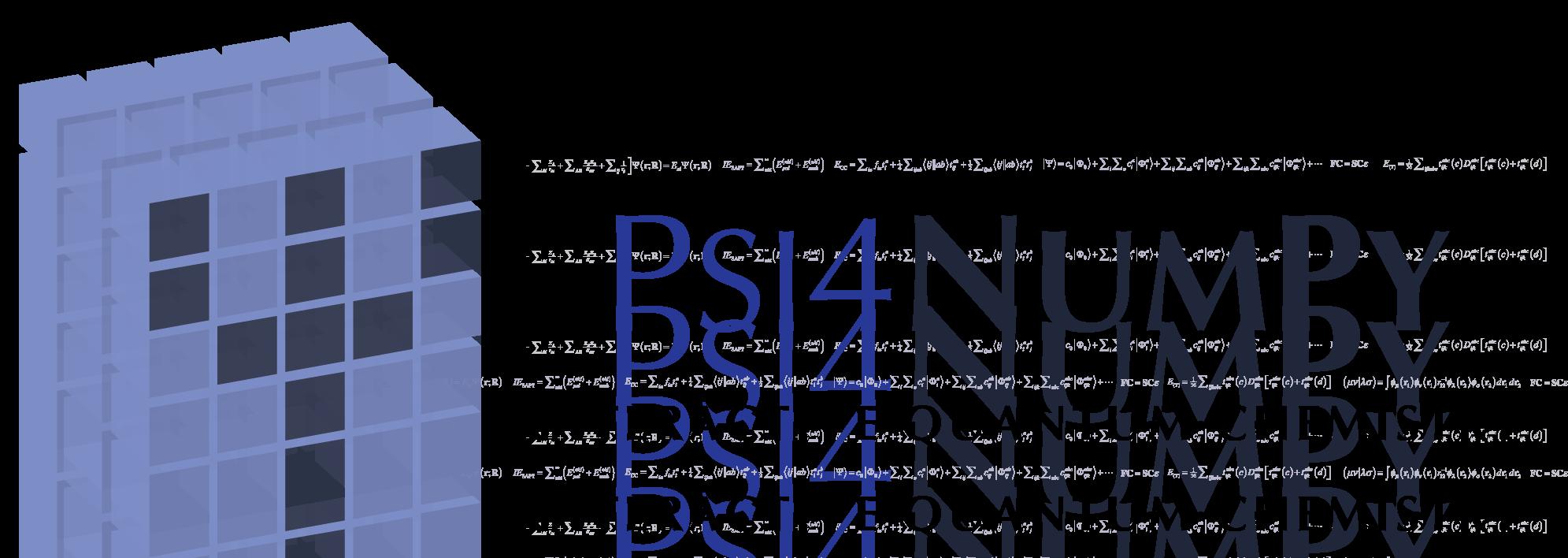 Psi4NumPy banner logo