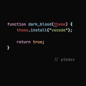 Dark Blood Theme for VSCode