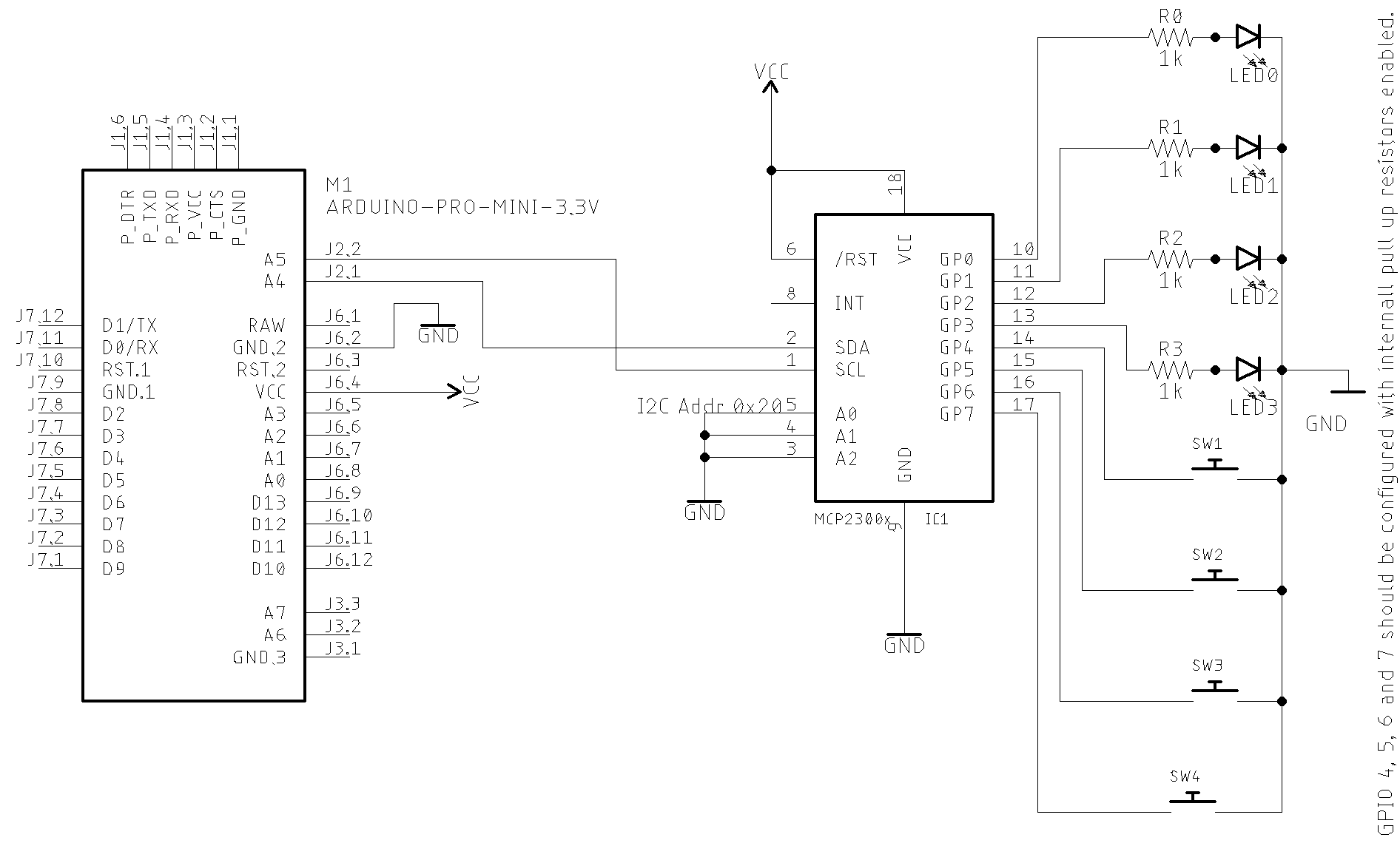 Basic Schematic with LEDs