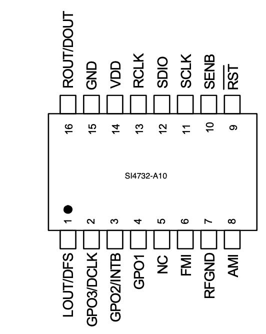 Si4732-A10 pinout