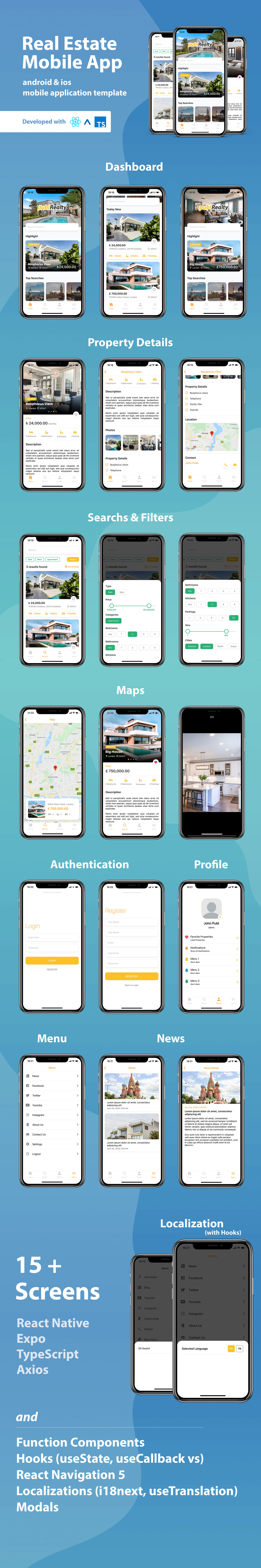 Real Estate Mobile App Template With React Native - 1
