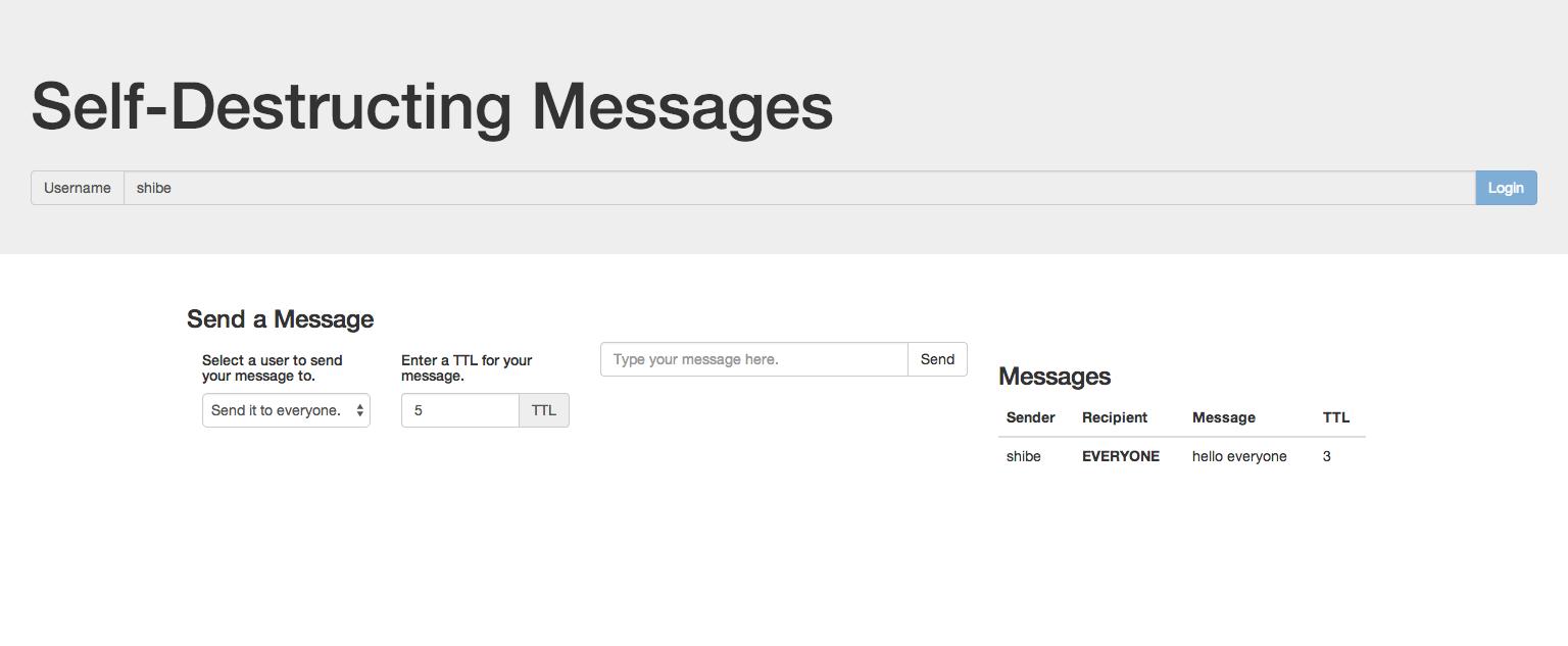 self destructing messages