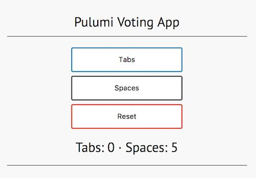 Voting app screenshot