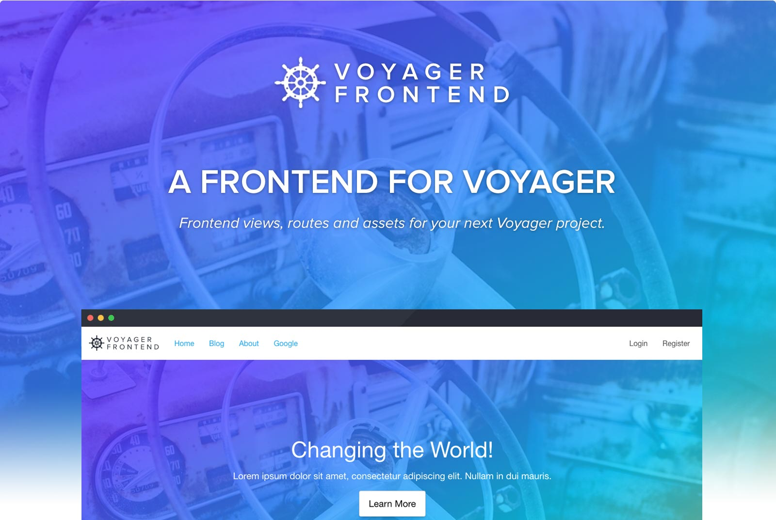 Voyager Frontend Screenshot