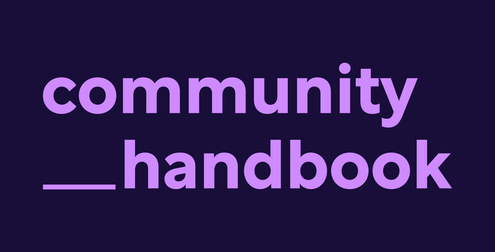 community handbook logo