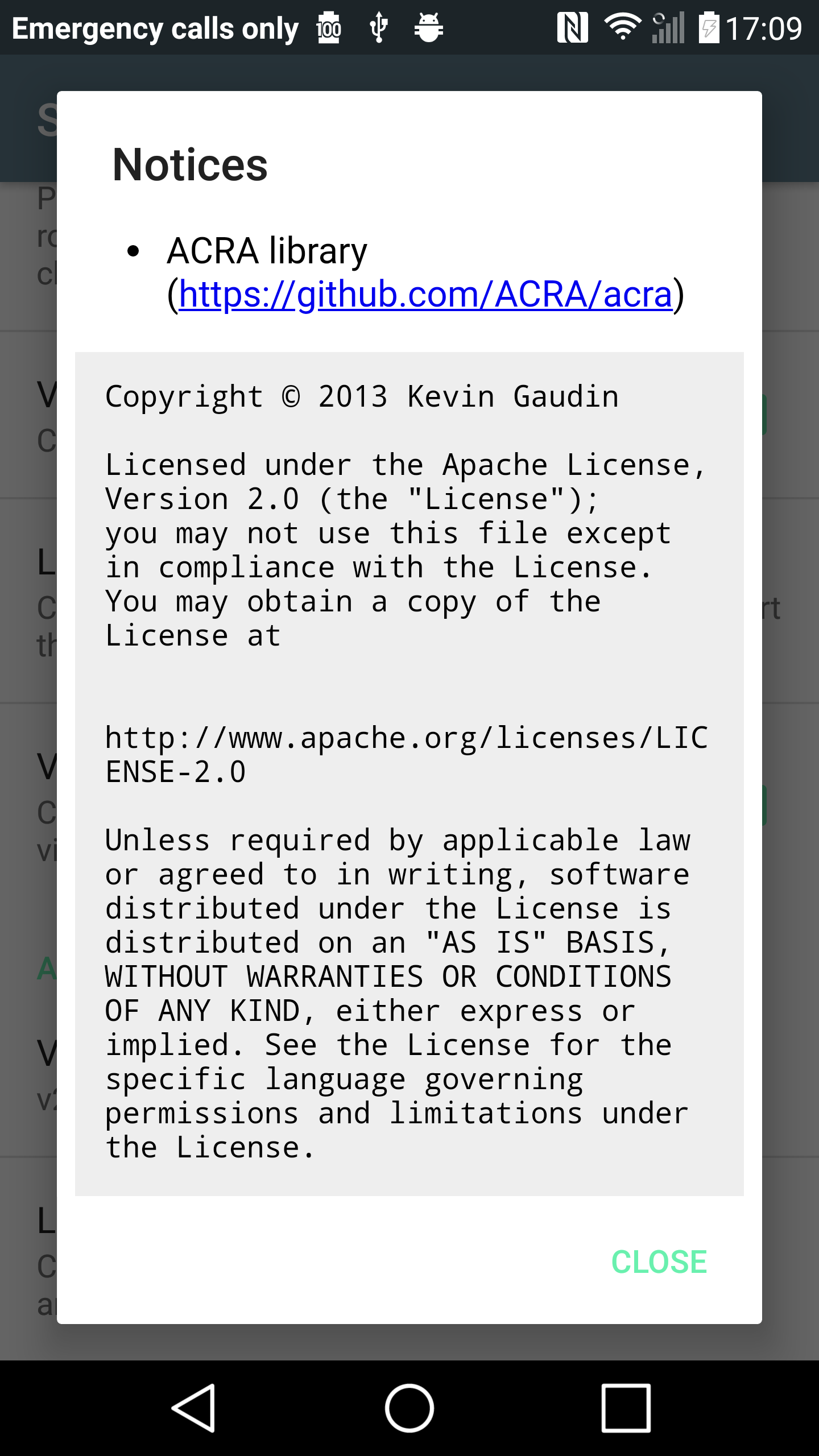 Some licenses
