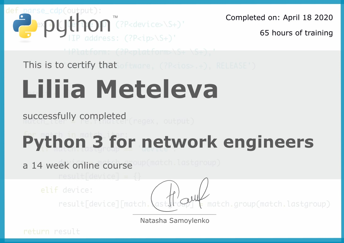 Python for network engineers