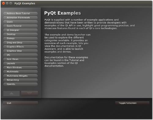 PyQt Examples launcher