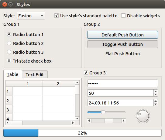 PyQt widgets screenshot