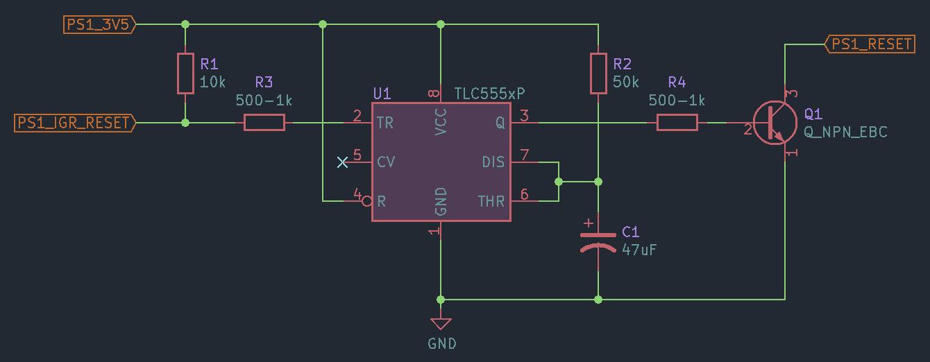 pulse extender schematic