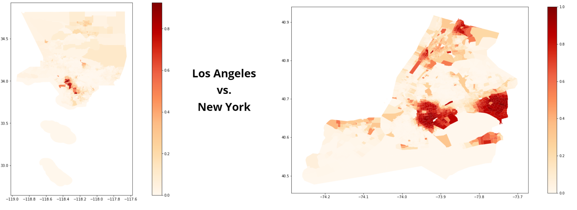 Los Angeles and New York Comparison Illustration