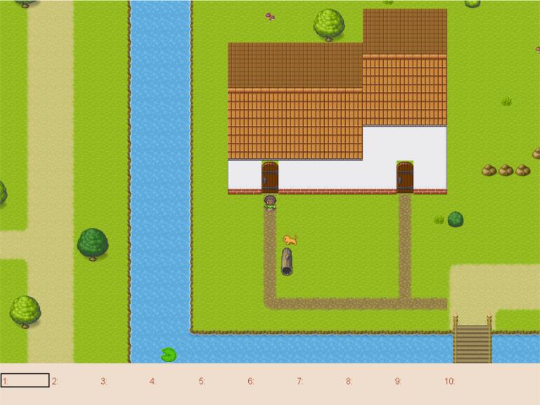 Screenshot of tile map