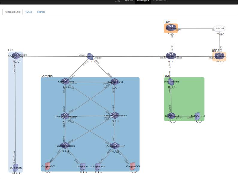 Sample UI - network design (L1)