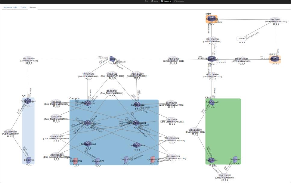 Sample UI - network design (L3)