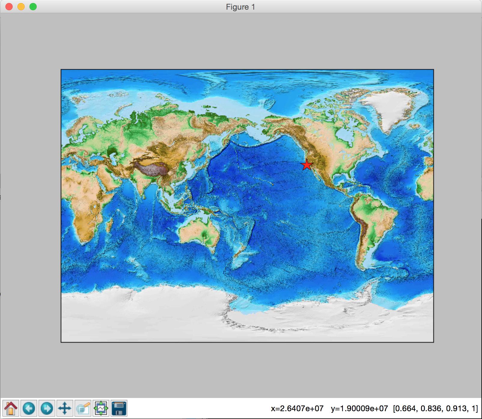 Qingkai's Blog: Python: Display Latitude/Longitude on Basemap when