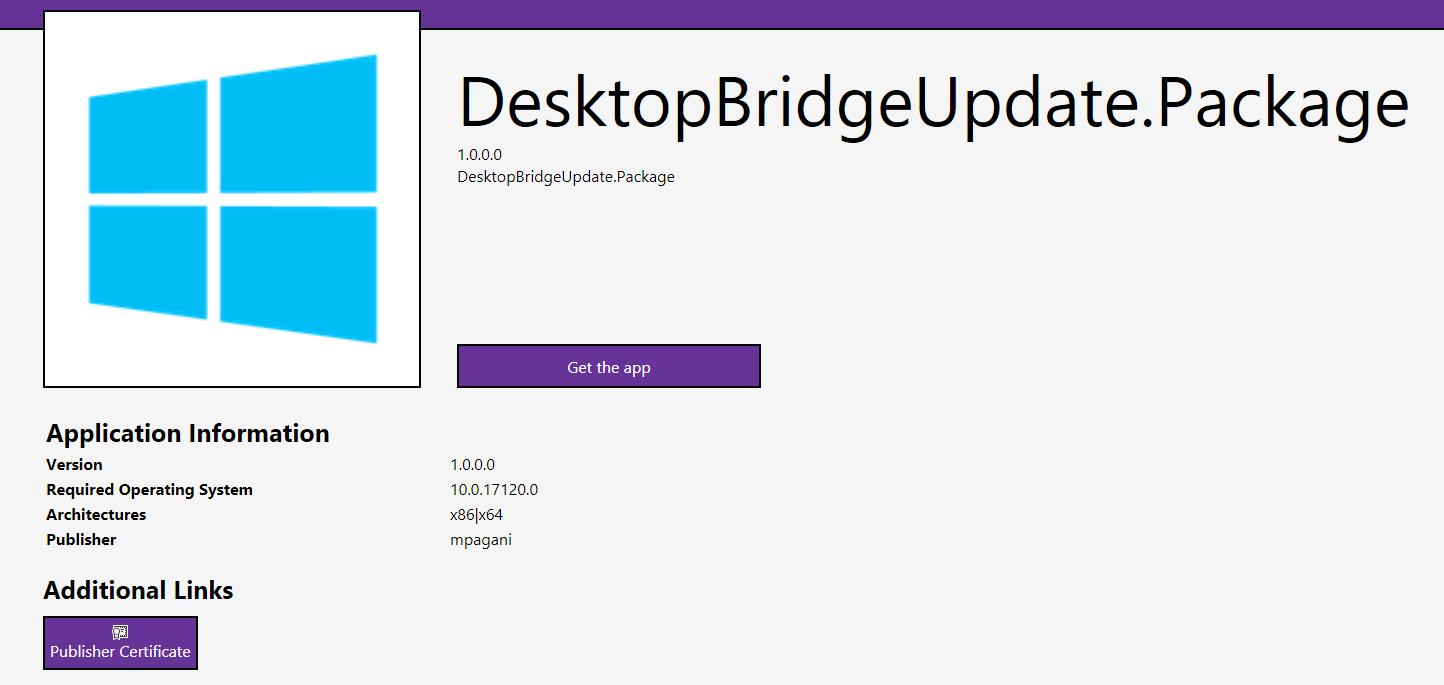 Handling auto updates for sideloaded UWP and Desktop